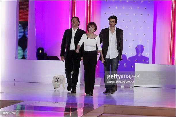 Olivier De Kersauzon On Vivement Dimanche Tv Show On November 17 2004 In Paris France Daniele Evenou And Sons Frederic And Jean Baptiste Martin