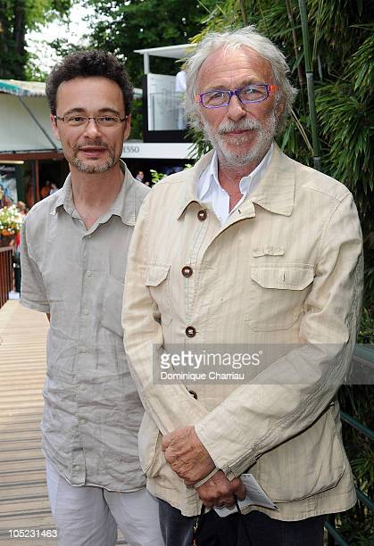 Olivier Defays and his father French Actor Pierre Richard attend The French Open 2009 at Roland Garros Stadium on June 1 2009 in Paris France