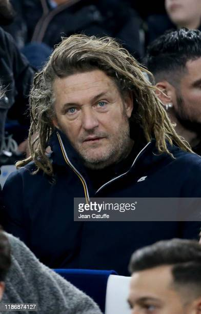 Olivier Delacroix attends the Ligue 1 match between Olympique de Marseille and Olympique Lyonnais at Stade Velodrome on November 10 2019 in Marseille...