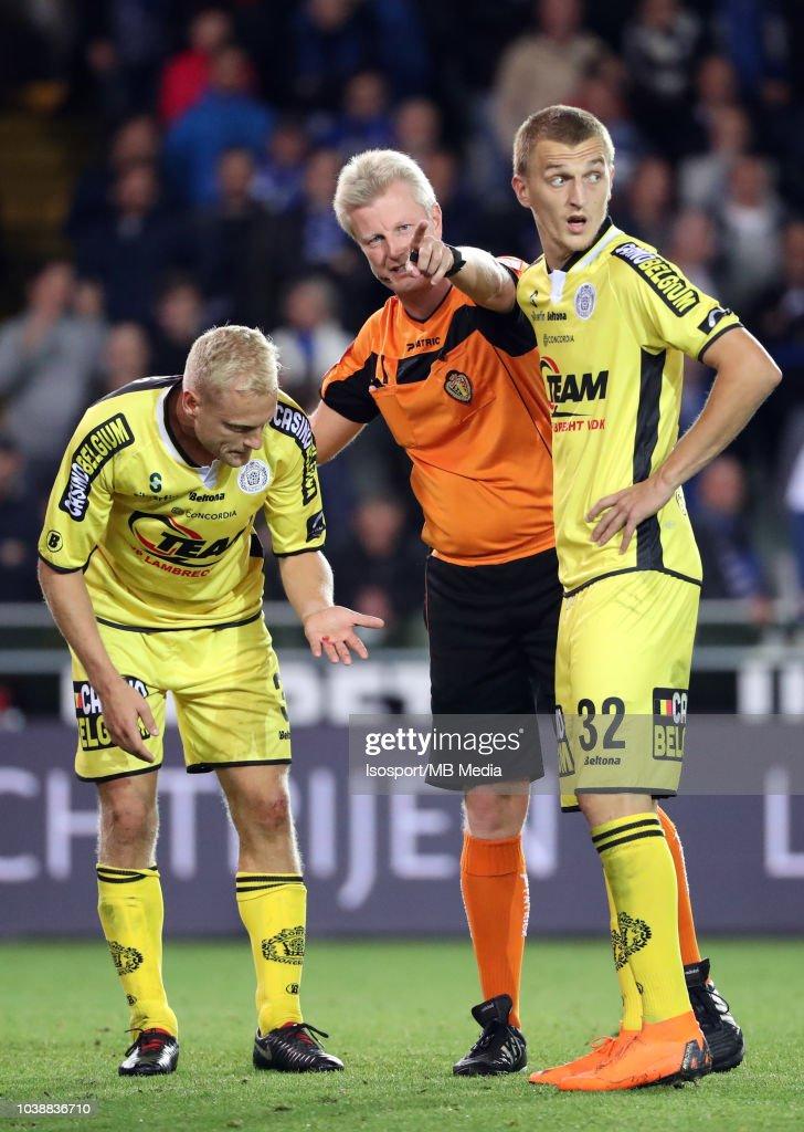 Olivier Deschacht, Christof Dierick and Jakov Filipovic pictured during the Jupiler Pro League match between Club Brugge and KSC Lokeren OV at Jan Breydel Stadium on September 14, 2018 in Brugge, Belgium.