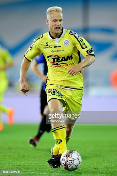 Olivier Deschacht defender of Lokeren in action during the Jupiler Pro League match between Club Brugge and KSC Lokeren OV at the Jan Breydel stadium...