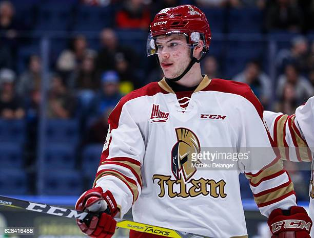 Olivier Desjardins of the Acadie-Bathurst Titan skates during his QMJHL hockey game at the Centre Videotron on November 9, 2016 in Quebec City,...