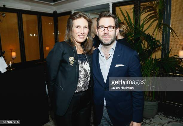 Olivier Gabet and a guest attend the Mastermind Magazine launch dinner as part of Paris Fashion Week Womenswear Fall/Winter 2017/2018 at Loulou...