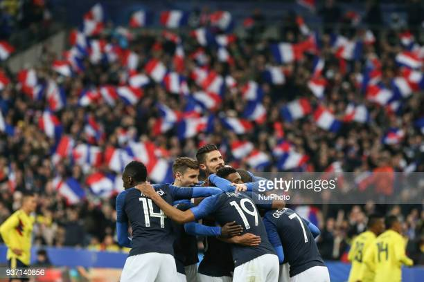 Olivier Giroud 9 during the friendly football match between France and Colombia at the Stade de France in SaintDenis on the outskirts of Paris on...