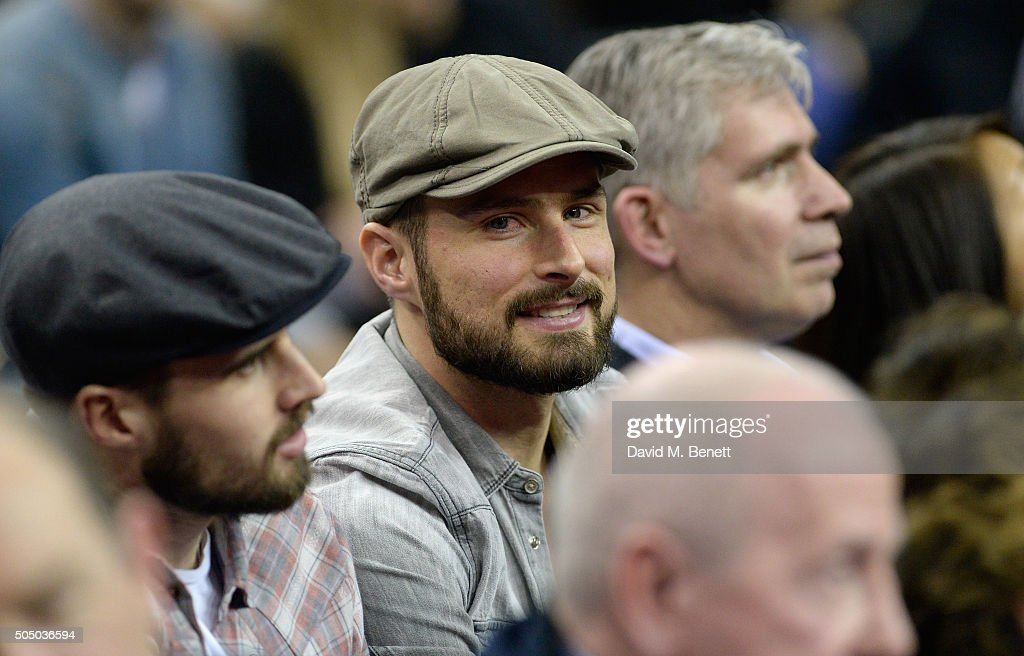 Olivier Giroud attends the Orlando Magic vs Toronto Raptors NBA Global Game at The O2 Arena on January 14, 2016 in London, England.
