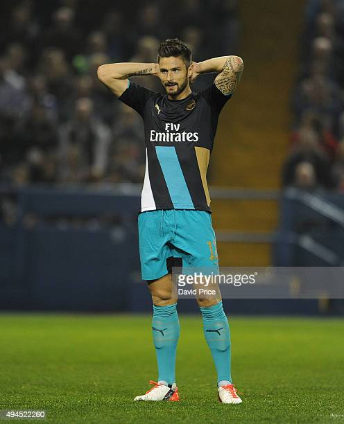 Olivier Giroud of Arsenal during the Capital One Cup 4th Round match between Sheffield Wednesday and Arsenal at Hillsborough Stadium on October 27...