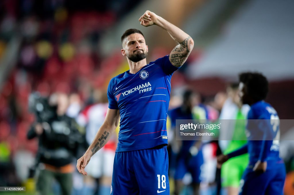 Slavia Prague v Chelsea - UEFA Europa League Quarter Final : First Leg : News Photo