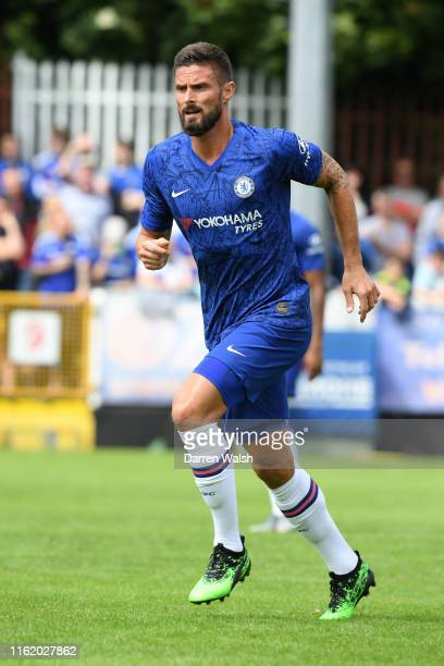 Olivier Giroud of Chelsea during a pre season friendly match between St Patrick's Athletic FC and Chelsea FC at Richmond Park on July 13 2019 in...
