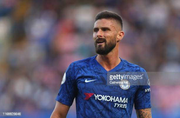 Olivier Giroud of Chelsea during the Premier League match between Chelsea FC and Leicester City at Stamford Bridge on August 18 2019 in London United...