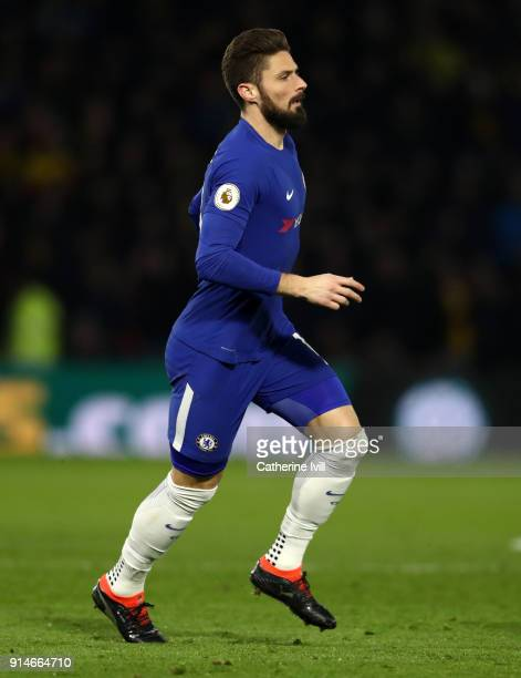 Olivier Giroud of Chelsea during the Premier League match between Watford and Chelsea at Vicarage Road on February 5 2018 in Watford England