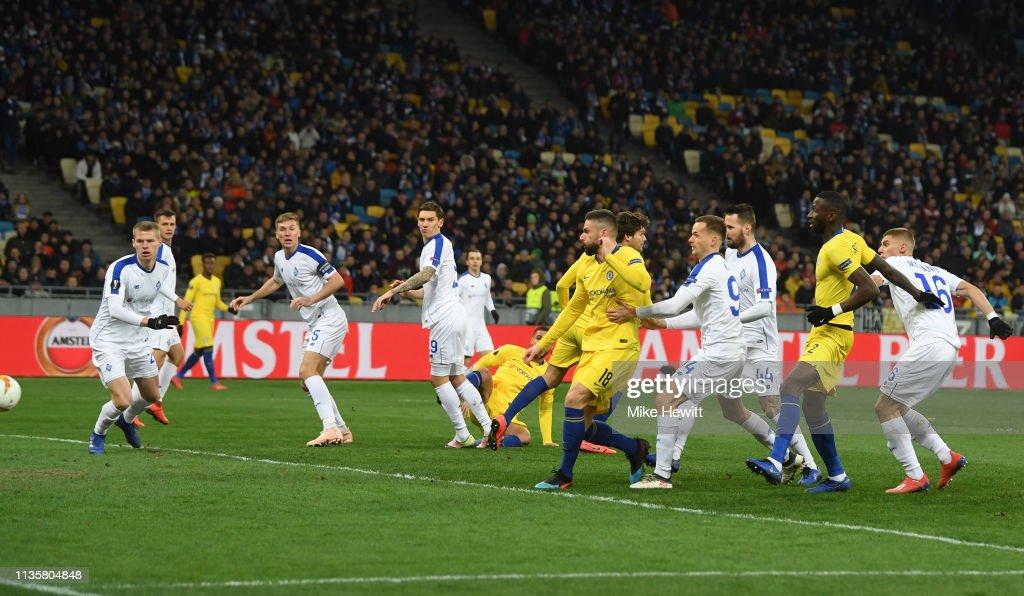 Dynamo Kyiv v Chelsea - UEFA Europa League Round of 16: Second Leg : News Photo