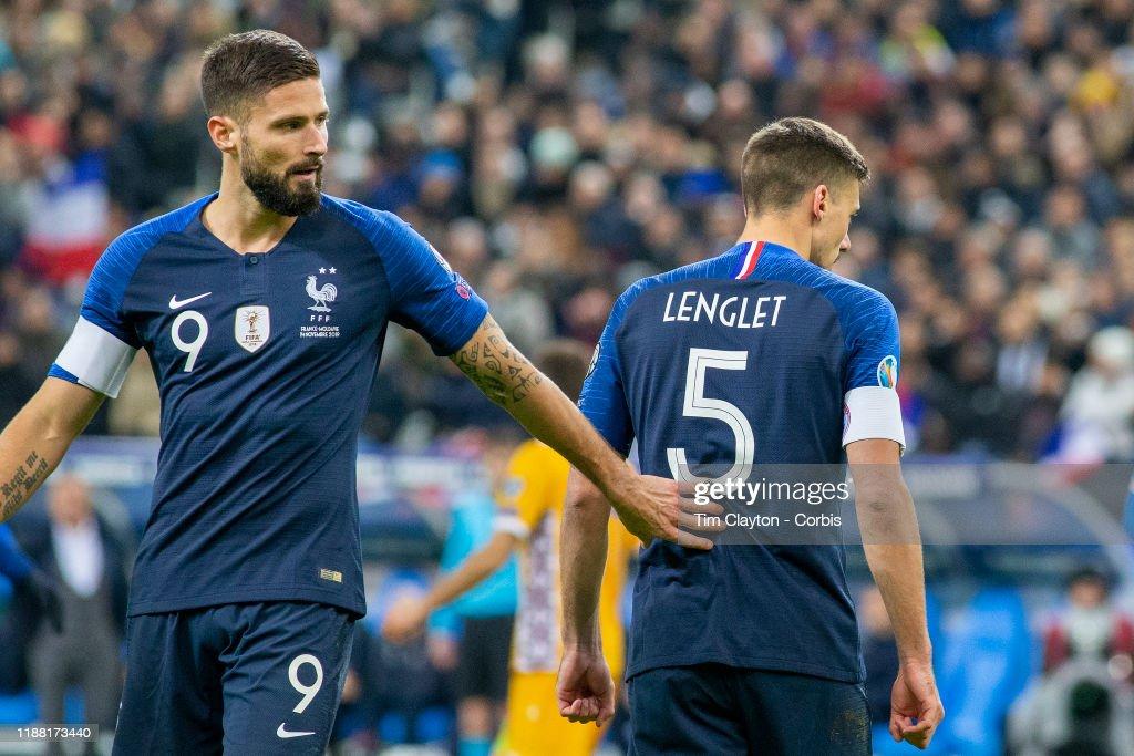 France V Moldova, 2020 European Championship qualifying. : News Photo