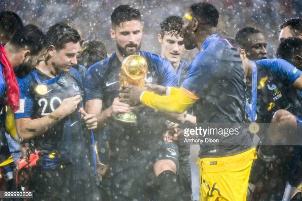 Olivier Giroud of France celebrates during the World Cup Final match between France and Croatia at Luzhniki Stadium on July 15 2018 in Moscow Russia