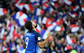 paris france olivier giroud france celebrates
