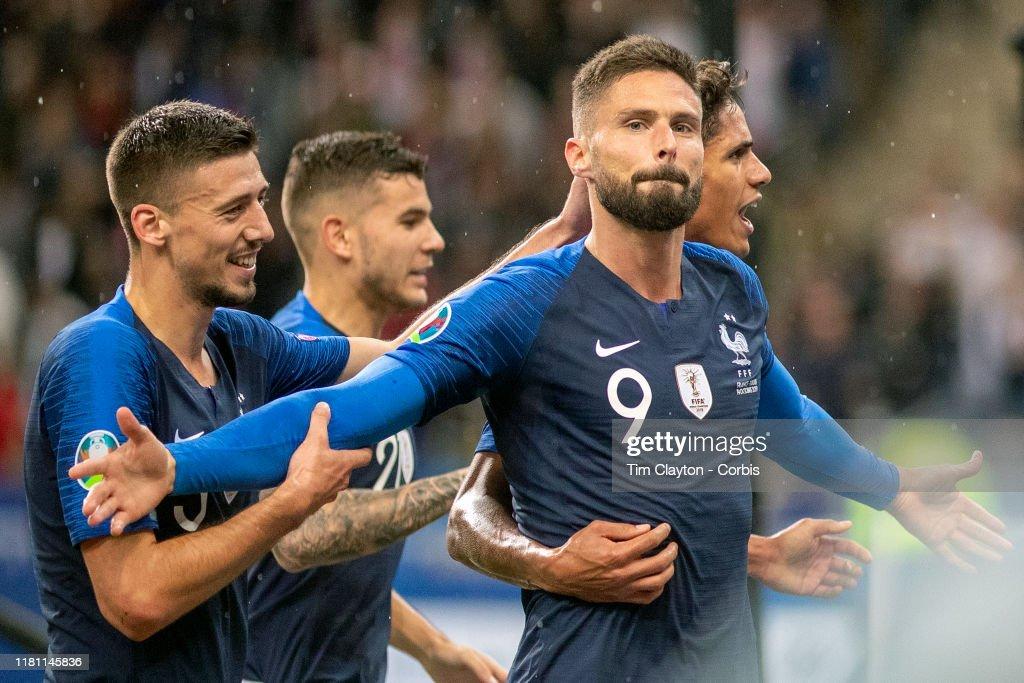 France V Turkey, 2020 European Championship qualifying. : News Photo