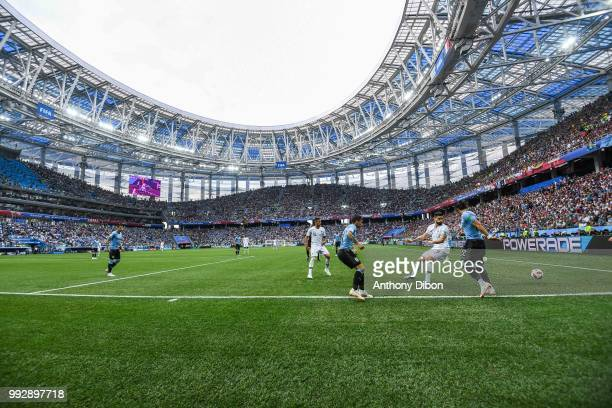 Olivier Giroud of France during 2018 FIFA World Cup Quarter Final match between France and Uruguay at Nizhniy Novgorod Stadium on July 6 2018 in...
