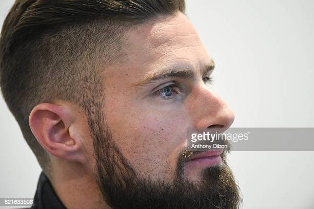 Olivier Giroud of France during press conference of the french national at Centre National du Football on November 7 2016 in Clairefontaine France