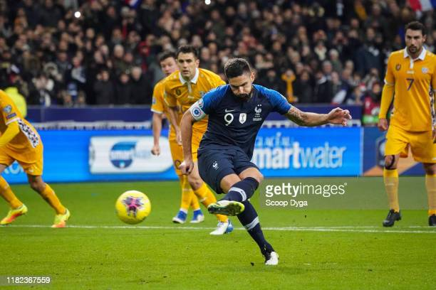 Olivier GIROUD of France during the Euro Cup Qualification Group H match between France and Moldavie on November 14 2019 in SaintDenis France