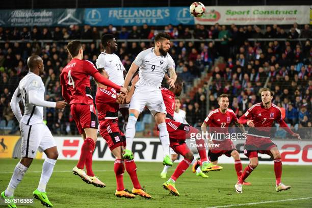 Olivier Giroud of France during the FIFA World Cup 2018 qualifying match between Luxembourg and France on March 25 2017 in Luxembourg Luxembourg
