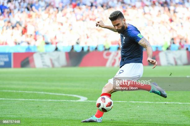 Olivier Giroud of France during the FIFA World Cup Round of 16 match between France and Argentina at Kazan Arena on June 30 2018 in Kazan Russia