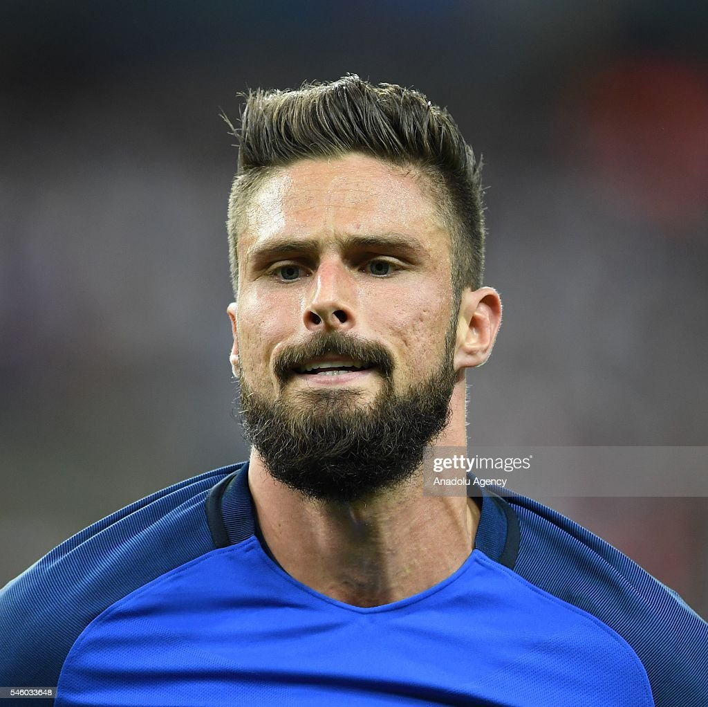 Olivier Giroud of France gestures during the Euro 2016 final match between Portugal and France at Stade de France in Paris, France on July 10, 2016.