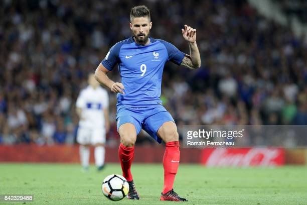 Olivier Giroud of France in action during the FIFA 2018 World Cup Qualifier between France and Luxembourg at Stadium on September 3 2017 in Toulouse...