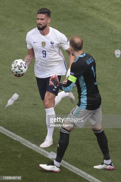 Olivier Giroud of France is seen during the EURO 2020 Group F soccer match between Hungary and France, at Ferenc Puskas Stadium on June 19, 2021 in...