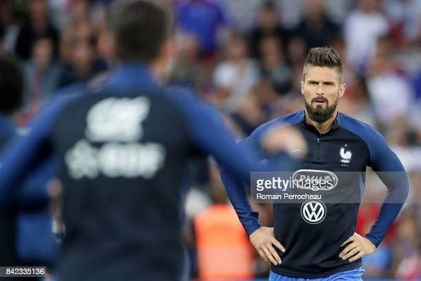Olivier Giroud of France look on beofre the FIFA 2018 World Cup Qualifier between France and Luxembourg at Stadium on September 3 2017 in Toulouse...