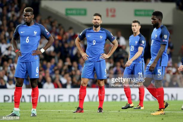 Olivier Giroud of France looks on during the FIFA 2018 World Cup Qualifier between France and Luxembourg at Stadium on September 3 2017 in Toulouse...