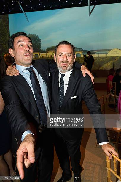 Olivier Josse and Louis Benech attend the dinner of Conseil des Grand Crus Classes of 1855 hosted by Chateau Mouton Rothschild on June 16 2013 in...