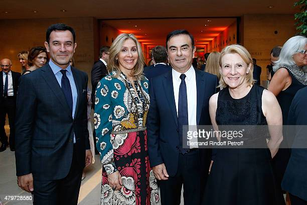 Olivier Josse CEO of Renault Carlos Ghosn and his wife Carole and Catherine Pegard attend the Dinner for the Fine Art Of Jewelry and Time Pieces at...