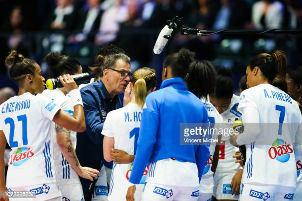 Olivier Krumbholz headcoach of France during the EHF Euro match between Serbia and France on December 12 2018 in Nantes France