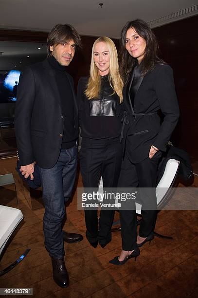 Olivier Lalanne Frida Giannini and Emmanuelle Alt attend the private screening of James Franco Documentary Film 'The Director' cohosted by Gucci and...