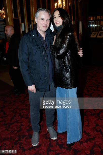 Olivier Lapidus and his wife Yara attend the 'Patrick et ses Fantomes' Theater Play at Casino de Paris on April 17 2018 in Paris France