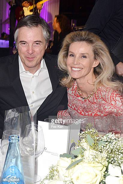 Olivier Lapidus and Laura Restelli Brizard attend the 'Love Charity Chrismas Dinner' To Benefit Of Children Of Donetsk At La Maison Blanche Club on...