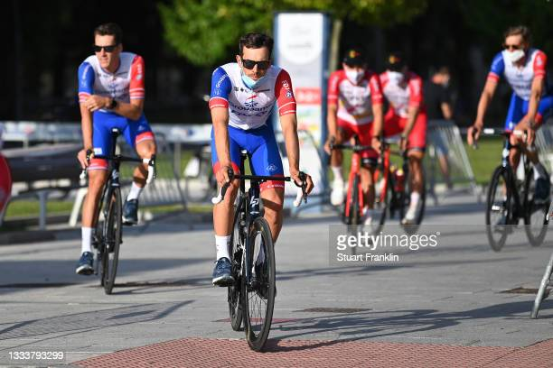 Olivier Le Gac of France and Team Groupama - FDJ during the 76th Tour of Spain 2021 - Team Presentation / @lavuelta / #LaVuelta21 /...