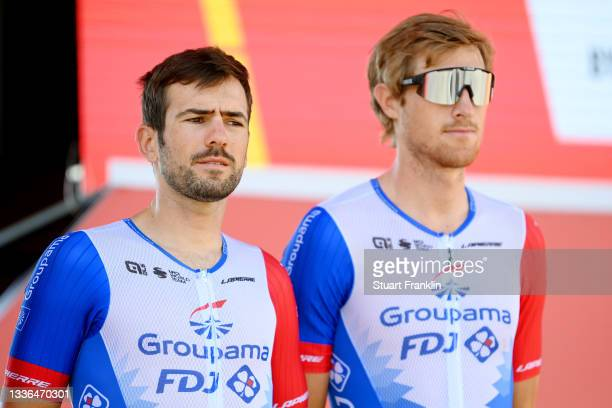 Olivier Le Gac of France and Team Groupama - FDJ during the team presentation prior to the 76th Tour of Spain 2021, Stage 12 a 175 km stage from Jaén...
