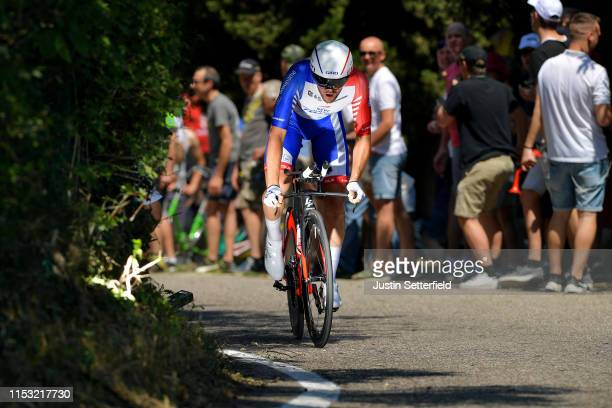 Olivier Le Gac of France and Team Groupama - FDJ / Public / Fans / during the 102nd Giro d'Italia 2019, Stage 21 a 17km Individual Time Trial stage...