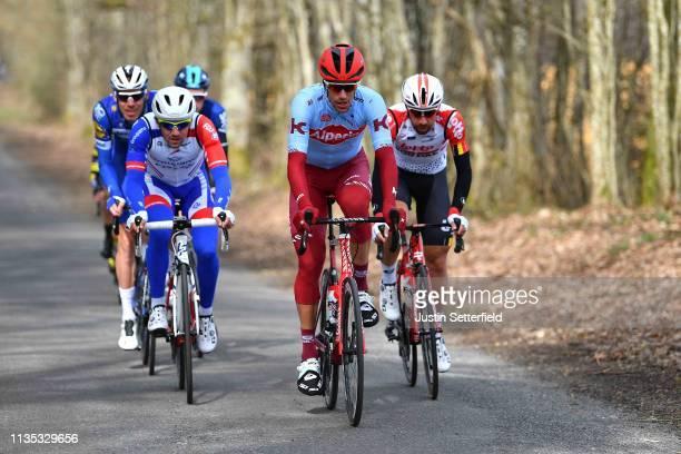 Olivier Le Gac of France and Team Groupama - FDJ / Reto Hollenstein of Switzerland and Team Katusha Alpecin / Thomas De Gendt of Belgium and Team...