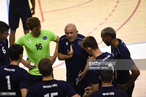 Olivier Lecat Coach of Montpellier during the Volleyball friendly match on September 22 2017 in Montpellier France