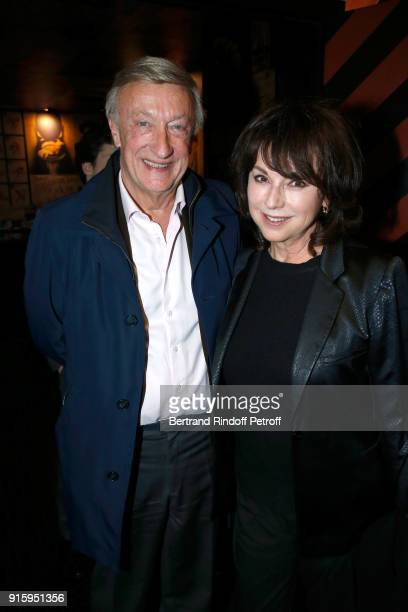 Olivier Lejeune and Julie Arnold attend the Alex Lutz One Man Show At L'Olympia on February 8 2018 in Paris France