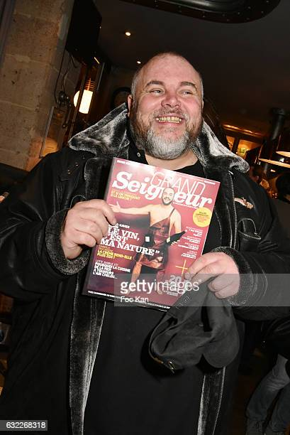 Olivier Malnuit editor in chief of Grand Seigneur magazine attends the Apero Tartiflette Party Hosted by Grand Seigneur Magazine at Bistrot...