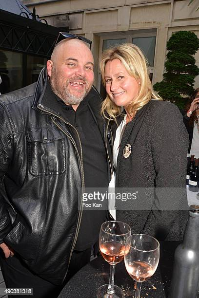Olivier Malnuit from Grand Seigneur and Technikart magazines and Luana Belmondo attend the 'Fromage Fashion Week Menu Day' at Sofitel Stay Hotel on...