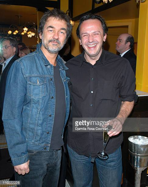 Olivier Marchal and Arnaud Viard during Rendezvous with French Cinema 2005 Press Luncheon in New York City at La Cote Basque in New York City New...