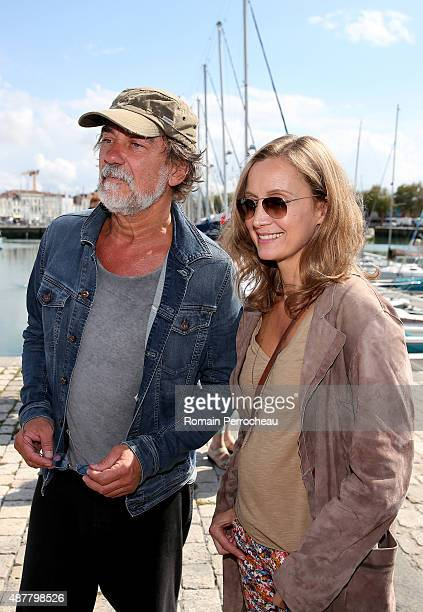 Olivier Marchal and Catherine Marchal after the photocall of Borderline as part of the 17th Festival of TV Fiction of La Rochelle on September 11...