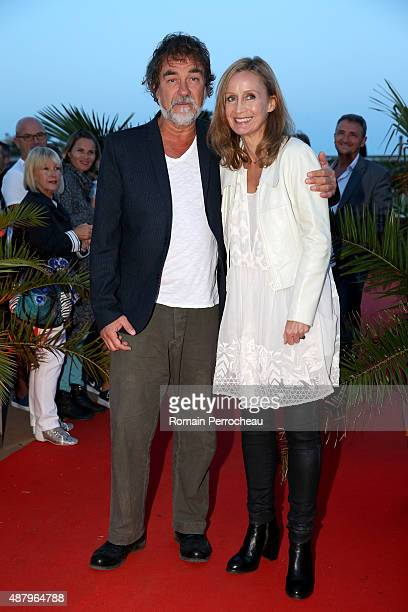 Olivier Marchal and Catherine Marchal attends the red carpet closing ceremony of the 17th Festival of TV Fiction at La Rochelle on September 12 2015...