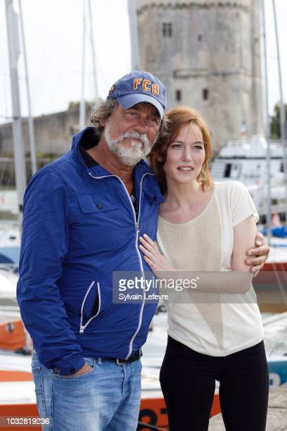 Olivier Marchal and Erika Sainte attend day 2 photocall of 20th Festival of TV Fiction on September 13 2018 in La Rochelle France