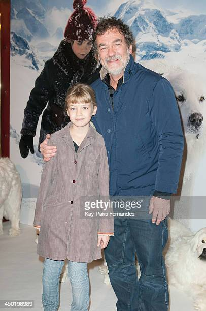 Olivier Marchal and his daughter Ninon attend the 'Belle Et Sebastien' Paris Premiere at Le Grand Rex on November 17 2013 in Paris France