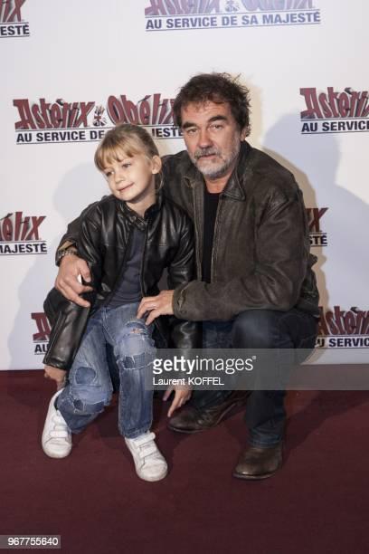 Olivier Marchal attends at Asterix et Obelix au service de sa majeste film premiere at Le Grand Rex on September 30 2012 in Paris France