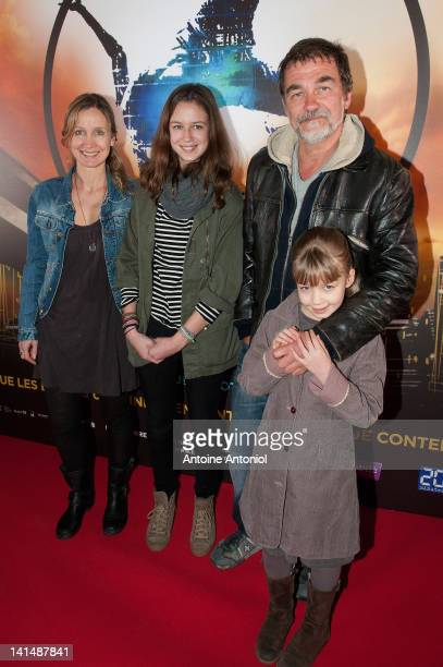 Olivier Marchal Catherine Marchal and their children attend 'Le Cirque Eloize' VIP Premiere At Le Grand Rex on March 17 2012 in Paris France